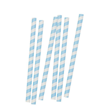 195mm Blue Strip Paper Straw