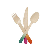 160mm Wooden Cutlery