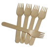 160mm Wooden Disposable Fork